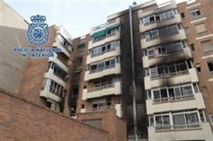 El incendio afectó a 25 viviendas.