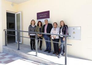 Responsables de Diputación y Ayuntamiento de Huétor Tájar.