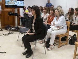 Juana Rivas, durante una sesión de su juicio.