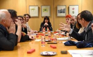 Un momento de la reunión de las entidades.