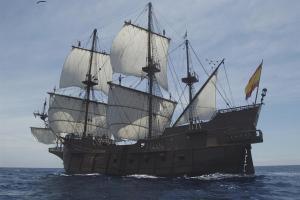 Imagen del 'Galeón Andalucía', una réplica de los legendarios navíos del siglo XVII.