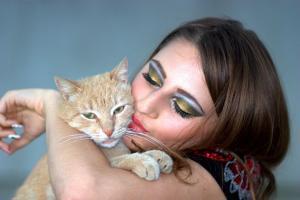 Las mujeres son titulares de la gran mayoría de los gatos.