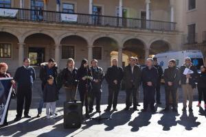 La hija de Pilar Cabrerizo se ha dirigido a los asistentes a la concentración.