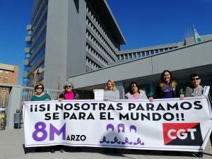 Representantes de CGT han presentado el preaviso de la huelga.