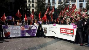 Concentración sindical este jueves en la Plaza del Carmen por la igualdad salarial.