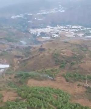 Imagen aérea extraída de un vídeo de la zona difundido por el Infoca.