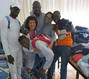 Algunos de los inmigrantes atendidos a finales de mayo.