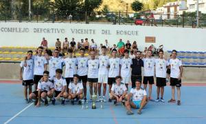 El equipo ganador, en el complejo deportivo 'Vicente del Bosque'.