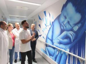 Nueva decoración del área Materno Infantil del Hospital de Guadix.
