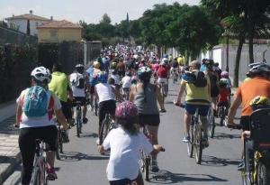 Marcha en bici en Cúllar Vega.