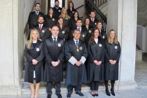 Los nuevos jueces y juezas, junto al presidente Lorenzo del Río.