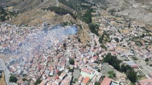 Imagen del incendio difundida por el Infoca
