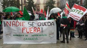 Inicio de la manifestación en la Plaza del Carmen.