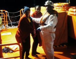En la patera rescatada viajaban dos mujeres.