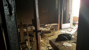 Interior de una de las viviendas afectadas.