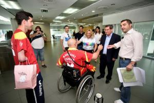 Entrena saluda a deportistas granadinos con discapacidad.