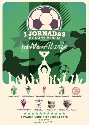 Cartel del torneo de fútbol 7 en Atarfe.