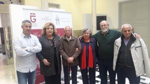 Antonio Garcia Ordoñez, Luis Lopez Garcia y Nati Bullejos con Fátima Gómez, Juan Francisco Arenas y Francisco Vigueras.