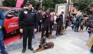 Las jornadas han arrancado en la Plaza del Carmen, donde se han reunido los representantes de las unidades caninas participantes.