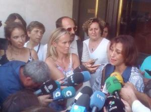Juana Rivas, en una imagen de archivo, en los Juzgados de Granada.