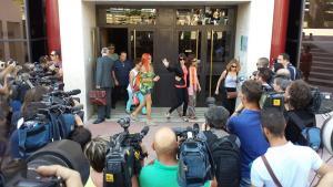 Juana Rivas, en una imagen de archivo, a la salida de los Juzgados en Granada.