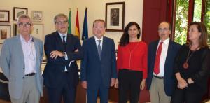 De Llera con los representantes de la plataforma Juntos por Granada.