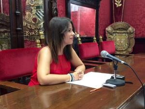 Lorena Rodríguez, en rueda de prensa.