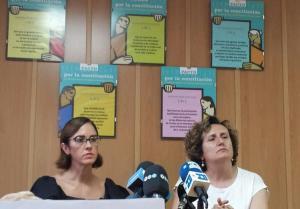 María Castillo con Francisca Granados en una rueda de prensa el pasado verano.