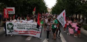 Imagen de archivo de la manifestación celebrada al inicio del curso.