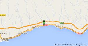 Localización aproximada del accidente.