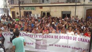Multitudinaria concentración en Maracena.