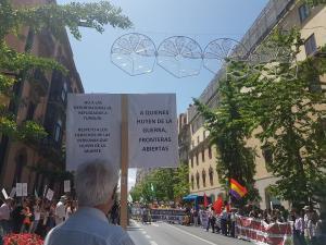Uno de los manifestantes.