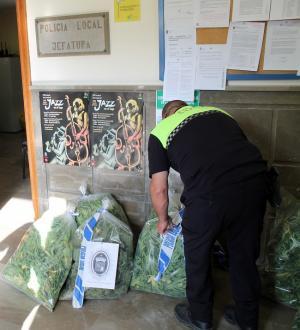 La Policía Local ha llevado la droga a la Comandancia de la Guardia Civil para su destrucción.