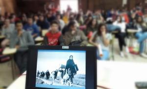 Imagen de una de las charlas.