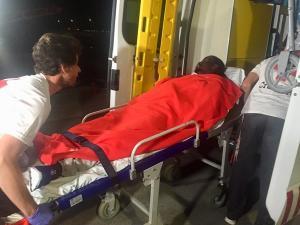 Uno de los migrantes ha sido trasladado al hospital.