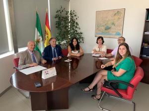 Reunión de la alcaldesa con el delegado de Salud.