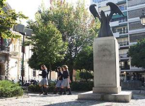 Monumento a José Antonio Primo de Rivera, retirado en julio de 2014.