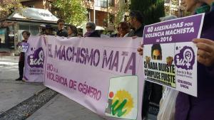El acto de IU se ha celebrado en la Plaza de la Mariana.