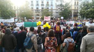 Los colectivos han finalizado sus marchas en la Plaza del Carmen.