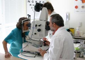 Retinografía diabética a una paciente.