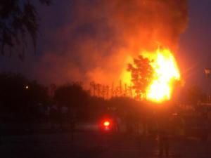 Imagen del incendio ocurrido el pasado mayo.