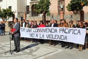 Concentración celebrada este martes en Pinos Puente.