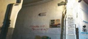 Una de las últimas pintadas denunciadas por la Policía Local, en el antiguo convento de la Merced.