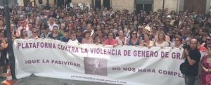 Manifestación de apoyo a Juana Rivas en Maracena.