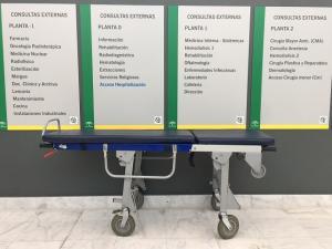 Cartel en el Hospital del PTS.