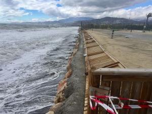 Daños en Playa Granada en marzo.