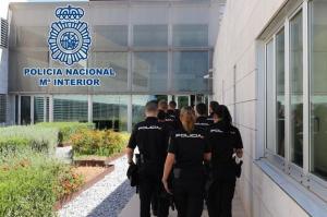 Agentes en prácticas en la Jefatura de Andalucía Oriental.