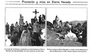 Imágenes de la romería de 1913 publicadas por La Unión Ilustrada (17 de agosto de 1913).