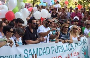 Candel, en la cabecera de la manifestación.