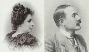 Amelia Roldán Llanos, en 1897 (Helsinki). Y su amante Angelo Angioletti, en 1903.